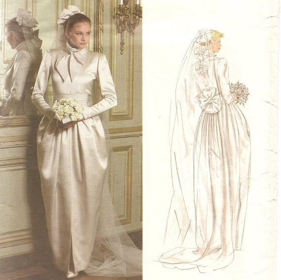 Vintage vogue wedding gown pattern christian dior designer for Vintage wedding dress designers