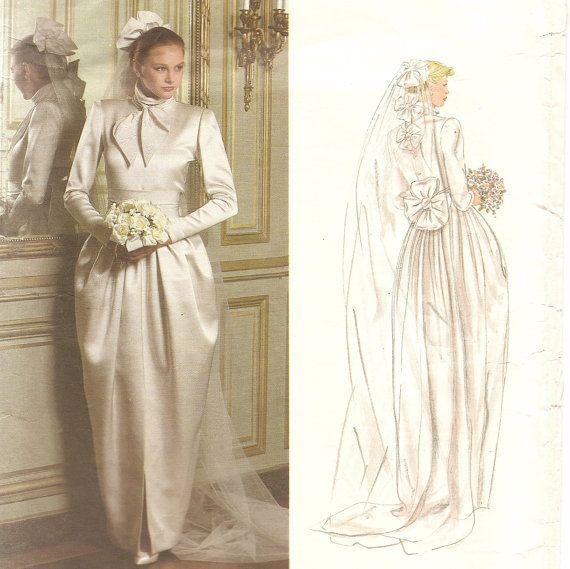 Vintage Vogue Wedding Gown pattern Christian Dior Designer Original ...