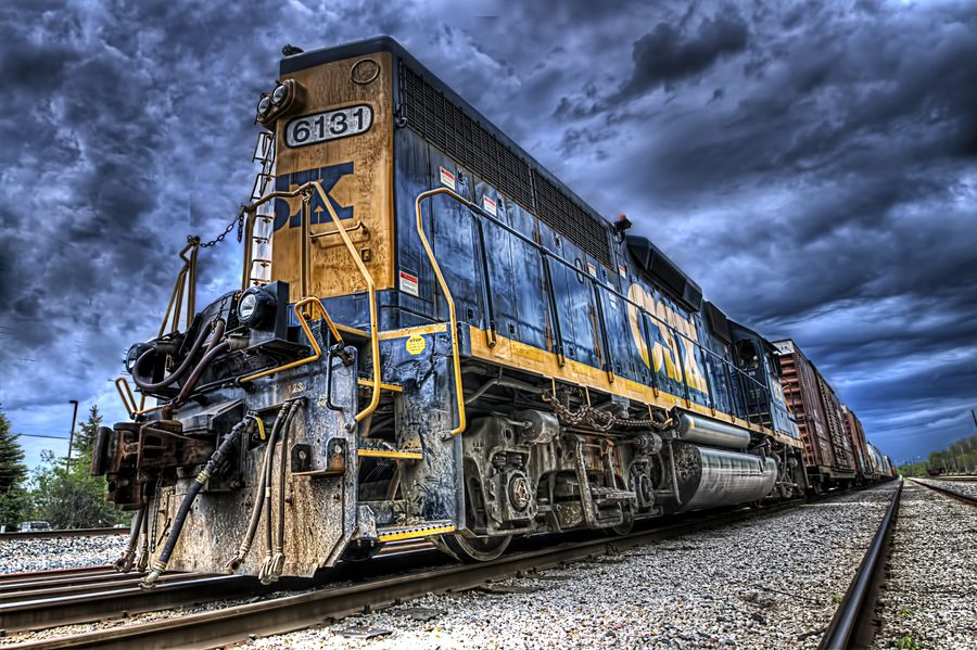 CSX Train #6131 | trainz | Train, Train museum y Train art