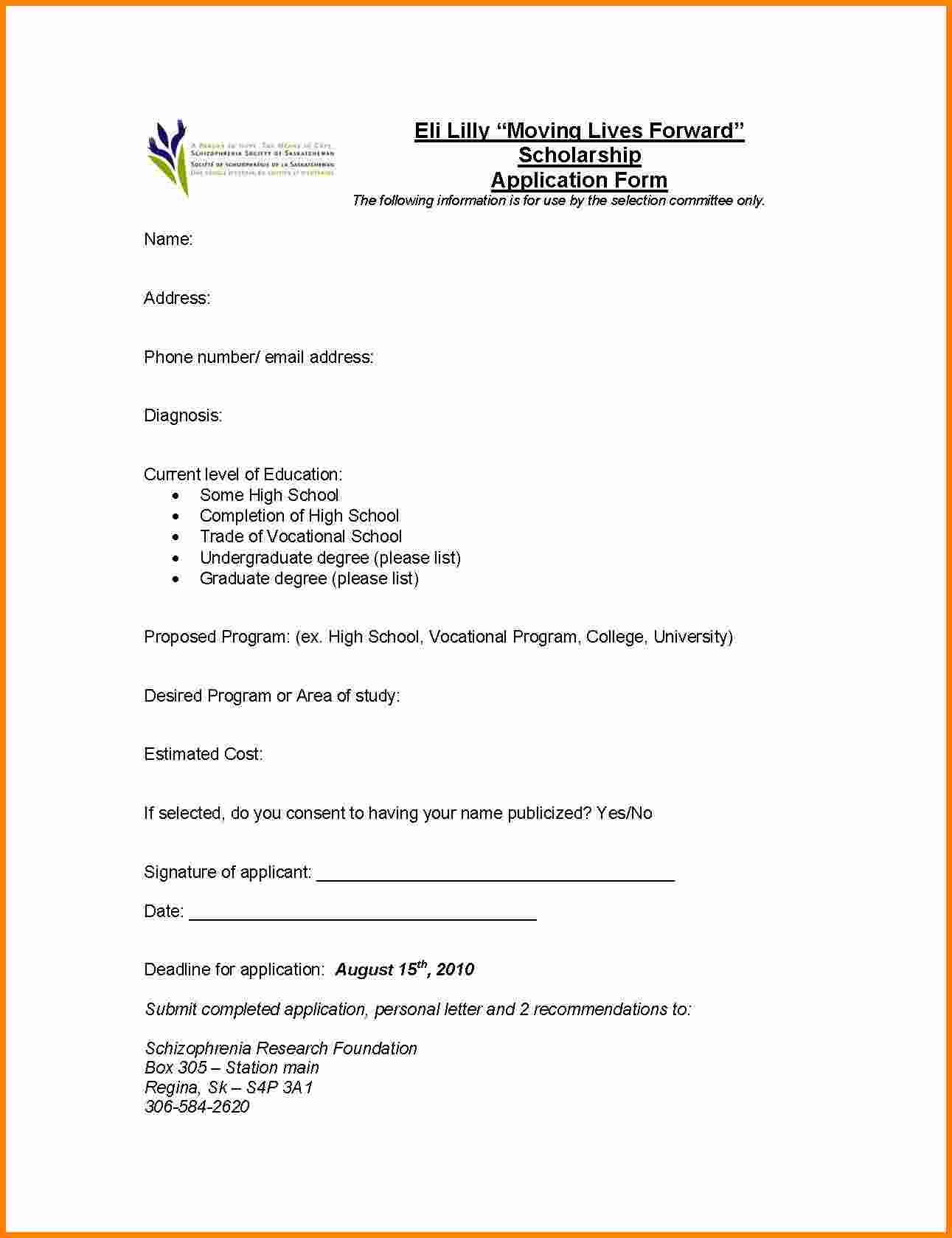 Letter Applying For Scholarship Application Form Letters Free Word