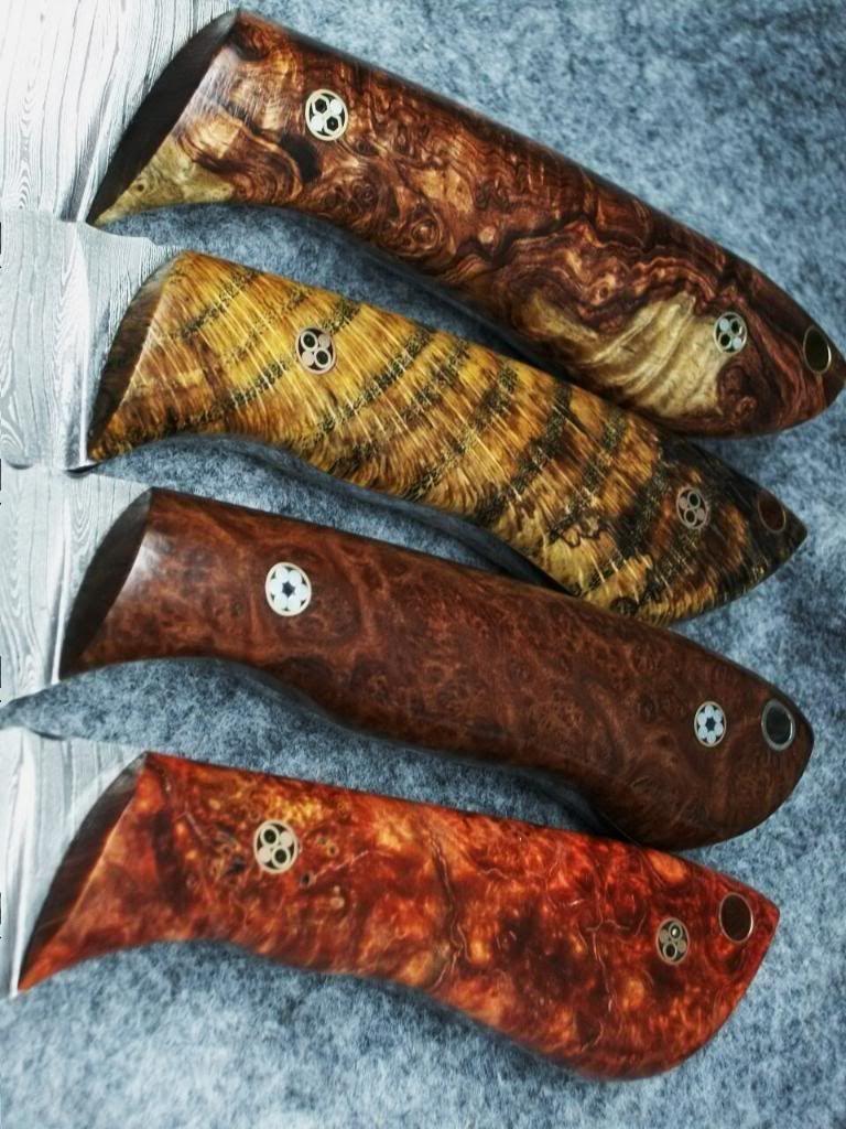 How do you finish wood handles knife making knife