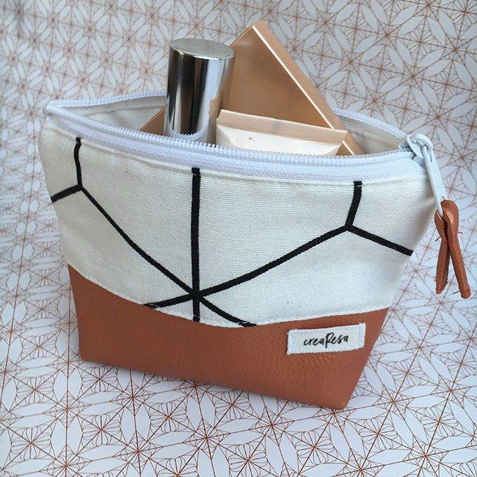 Bolsa de cosméticos de costura – también para principiantes – crearesa.de
