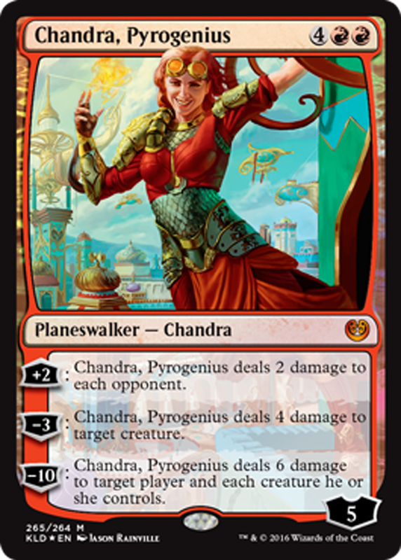 Chandra, Pyrogenius red planeswalker Magic the Gathering ... Planeswalker Ally Deck