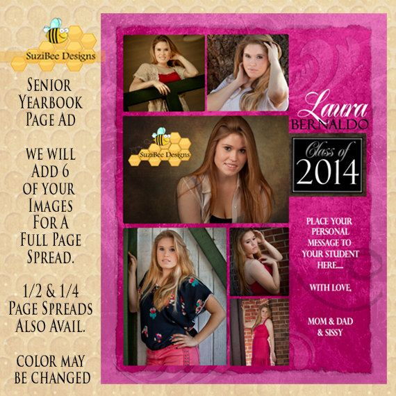 SENIOR YEARBOOK AD Full Page 6 Images We by SuziBeeDesigns, $45.00