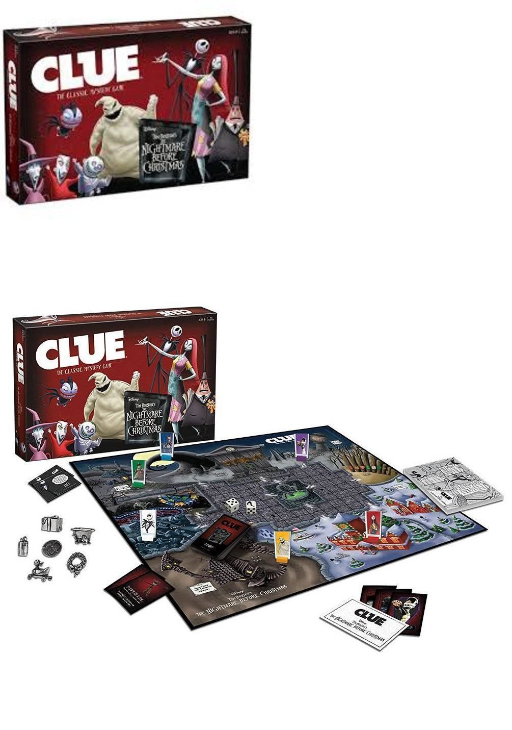 CLUE The Nightmare Before Christmas Board Game Great Gift-Brand New ...