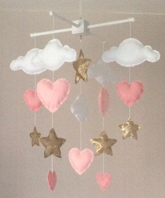 Baby Krippe Mobile Wolken Und Sterne. Ein Ideales Geschenk Für Ein Neues  Baby Kinderzimmer