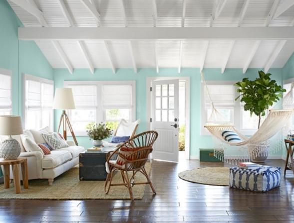 Seafoam Living Room via Completely Coastal