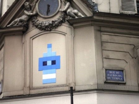 Space Invader Rue du Faubourg du Temple (75011) | Invader ...