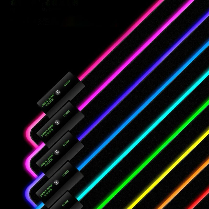Coolcold d1000 gaming mouse pad 80x30cm with rgb led