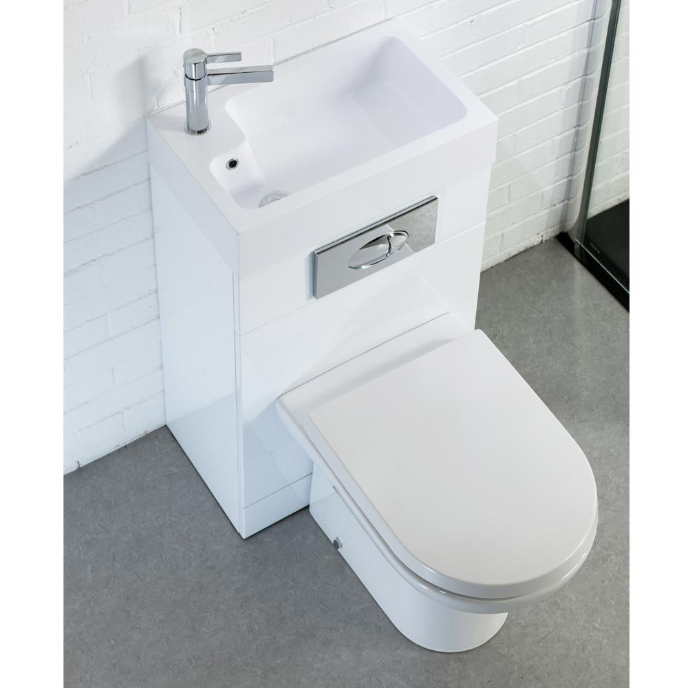 metro combined two in one wash basin toilet 500mm wide x 300mm downstairs toilet