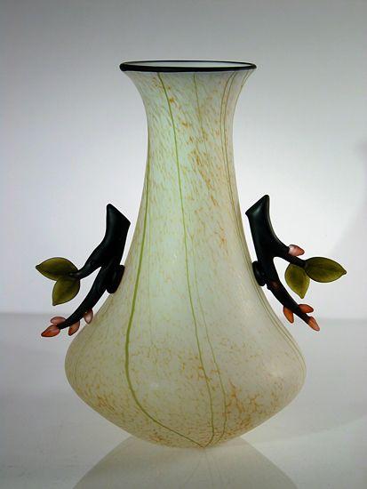 Twig Vase: David Leppla and Melanie Guernsey-Leppla: Art Glass Vase - Artful Home
