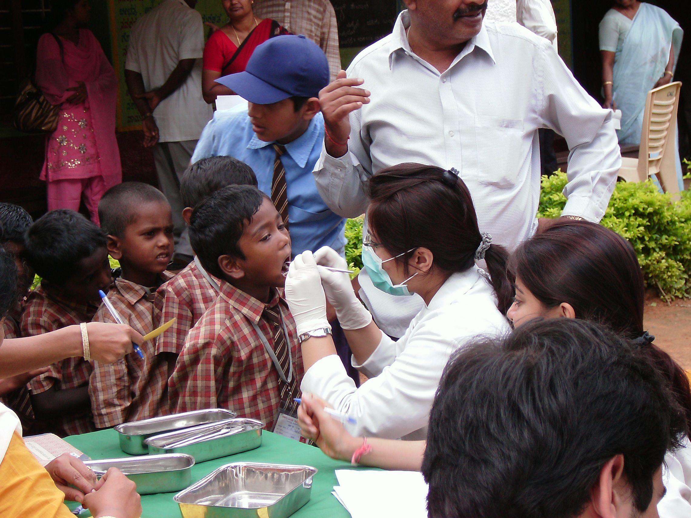 Dental screening for school children near bangalore india