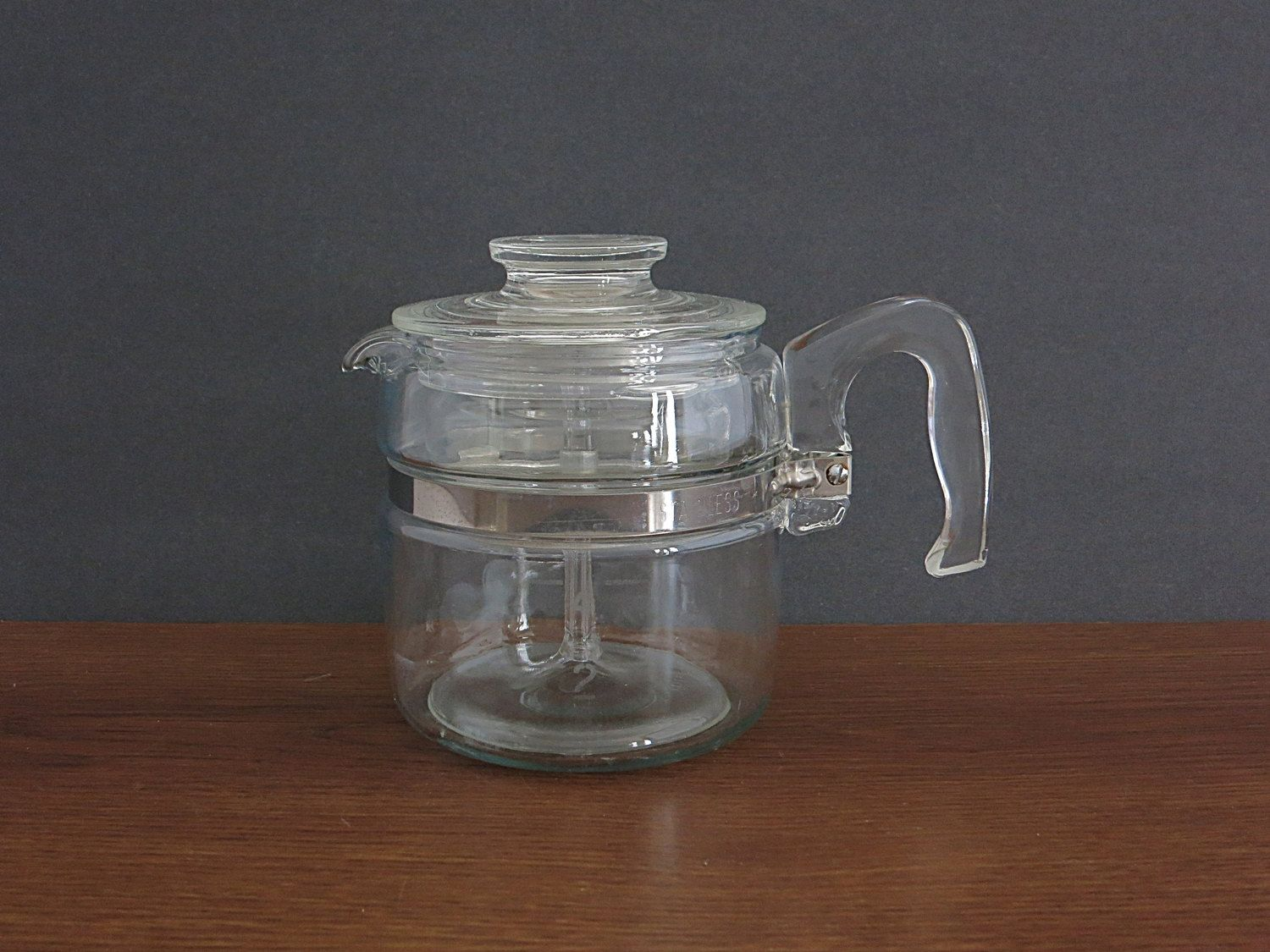 Pyrex Coffee Maker How To Use : Vintage 4 cup Pyrex Percolator Coffee Pot - Pyrex Flameware Coffee Pot - Rangetop Ware - Pyrex ...