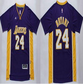 d79704217047 Los Angeles Lakers  24 Kobe Bryant Purple Short Sleeve Stitched NBA Jersey