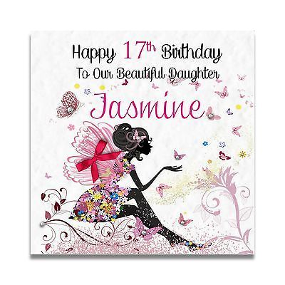 Handmade Personalised Daughter Granddaughter 15th 16th 17th 18th Birthday Card