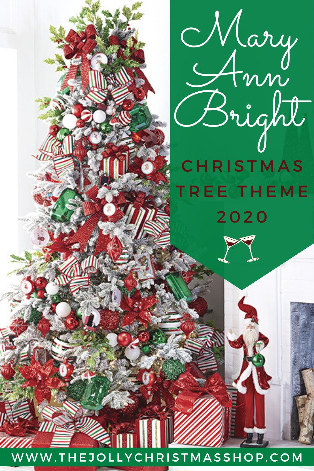 New For 2020 Mary Ann Bright Christmas Tree Theme Make The Spirits Bright This Hol In 2020 Floral Christmas Tree Christmas Tree Inspiration Cool Christmas Trees
