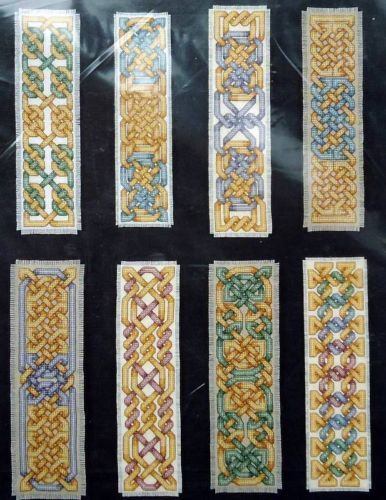 Teresa-Wentzler-Traditional-KNOTWORK-BOOKMARKS-I-Cross-Stitch-8-Designs