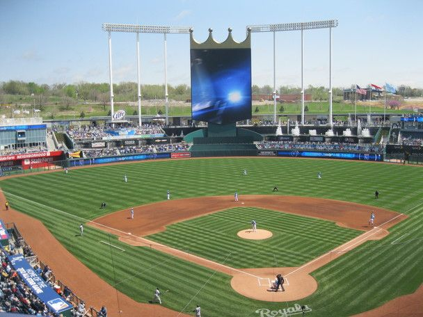 The New Kauffman Stadium Including The Outfield Experience Kansas City Mo Kansas City Royals Baseball Kauffman Stadium Kansas City Royals