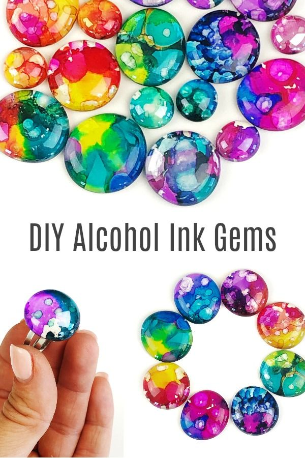 Alcohol Ink Gems • Color Made Happy