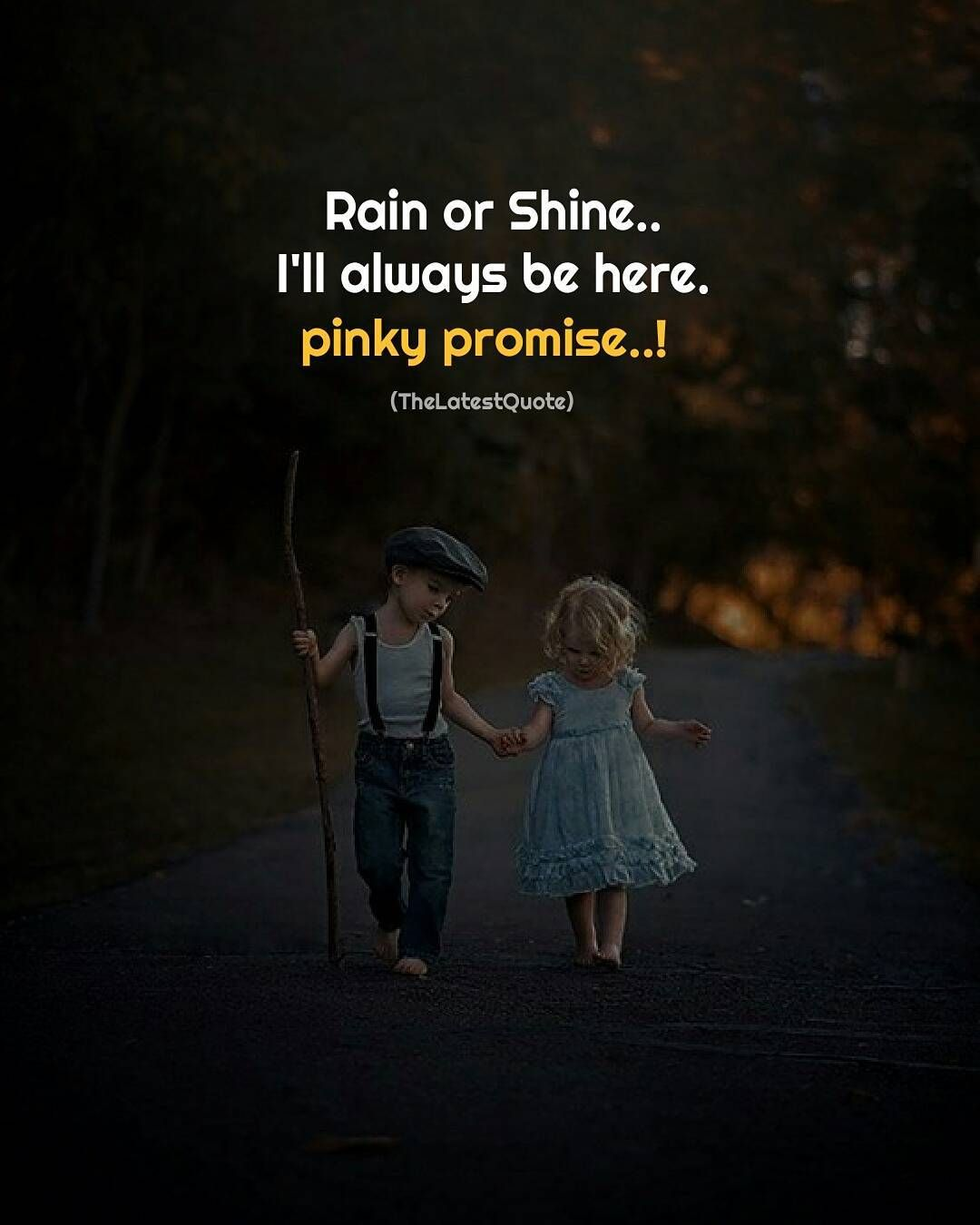 Rain Or Shine I Ll Always Be Here Pinky Promise Thegoodquote Quotestoliveby Pinkypromise Promise Anime Love Quotes Promise Quotes First Love Quotes