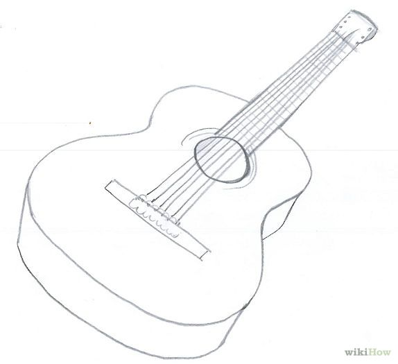 Draw An Acoustic Guitar