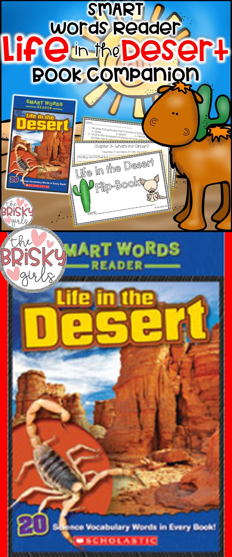 Life in the Desert Smart Words Reader Flipbook in 2020
