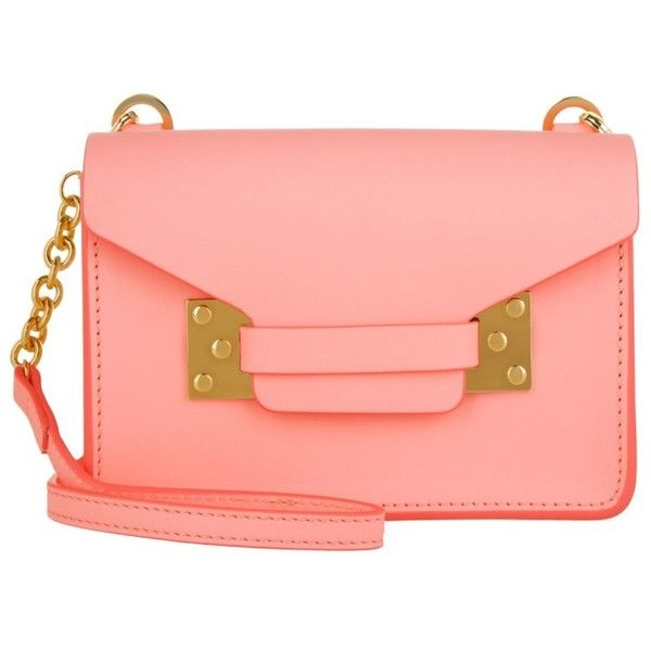 Sophie Hulme Nano Milner Envelope Bag Saddle Leather Bright Pink In 370 Liked On Polyvore Featuring Bags Handbags Shoulder Rose