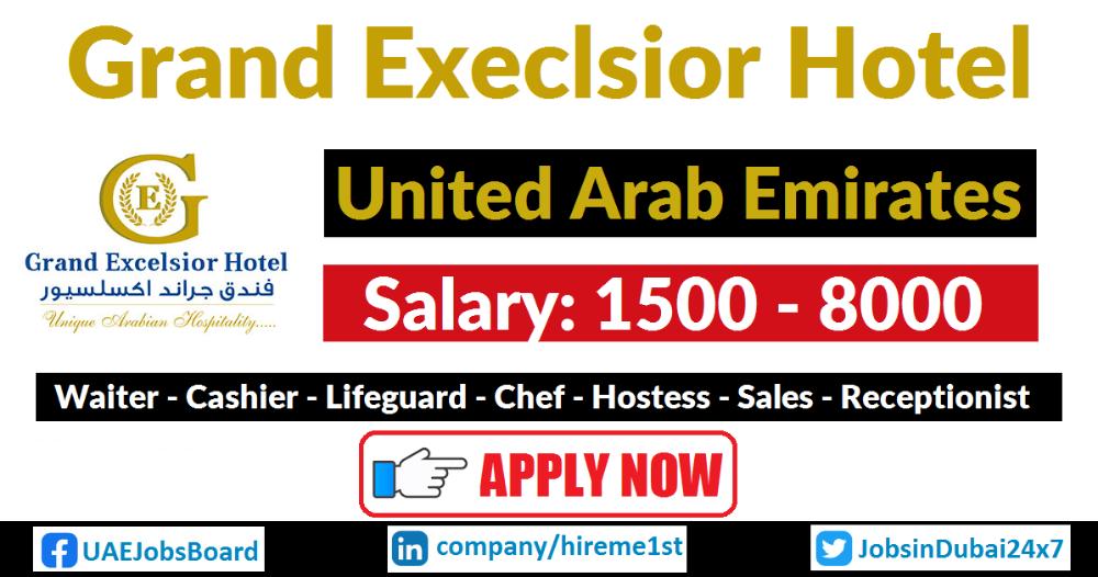 Hireme1st Hotel jobs, Dubai, Excelsior hotel