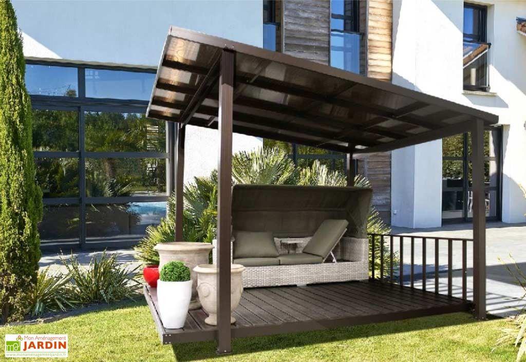 Tonnelle Aluminium Et Polycarbonate Terrasse Couverte 3 45 X 3 05 M Pergola Couverte Terrasse Couverte Terrasse Maison