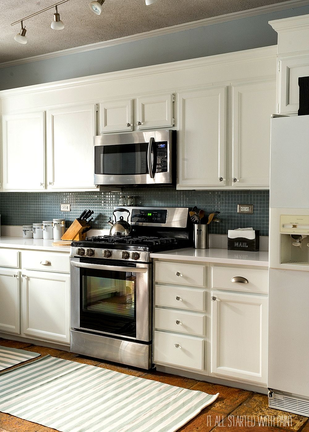 Kensington Kitchen Cabinets: Builder Grade Kitchen Makeover With White Paint