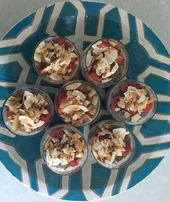 Vanilla Chia puddings from Whole Nourished Soul, May 2016 retreat