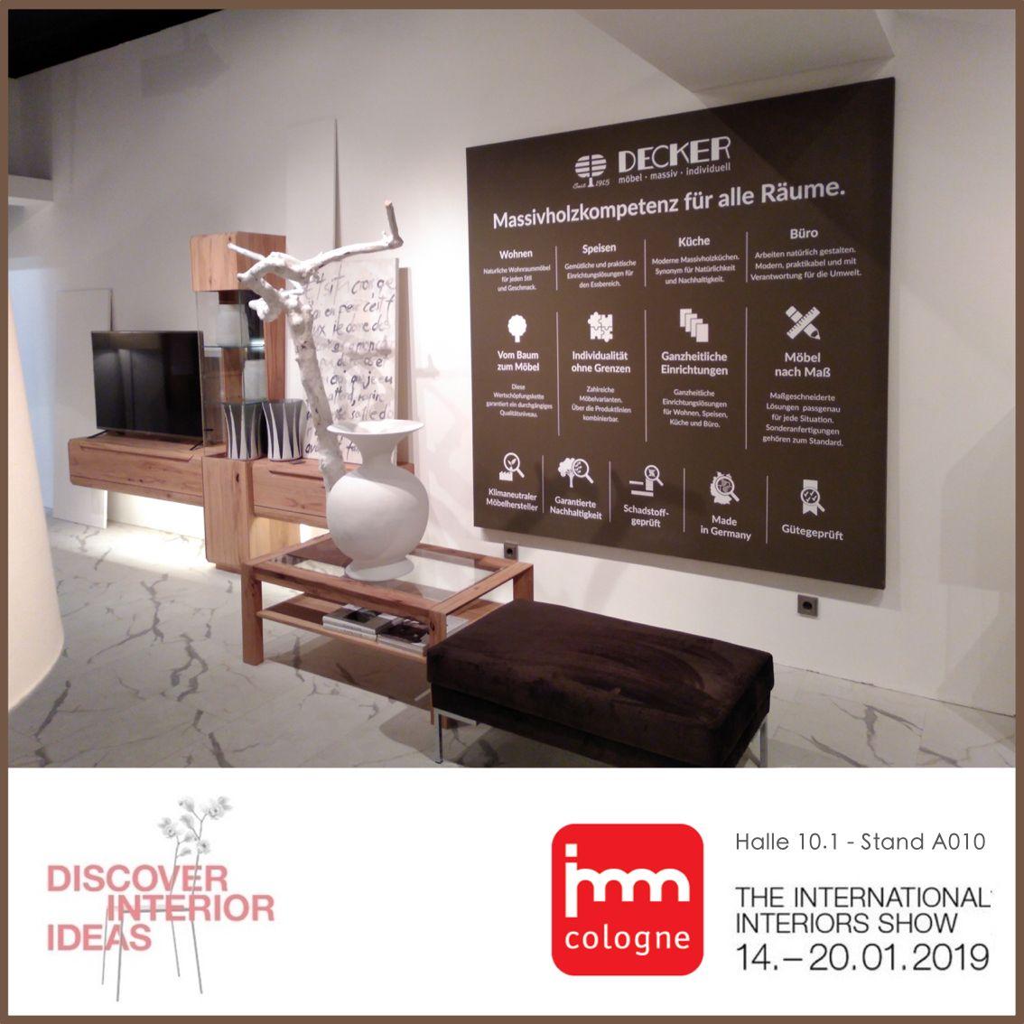 Viele Grusse Von Der Internationalen Mobelmesse In Koln Vom 14 01 20 01 Stehen Wir Ihnen Vor Ort Zur Verfugung Wir Fr Einrichtung Design Furniture