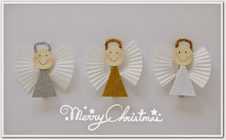 Manualidades De Angeles De Navidad Para Ninos.Beautiful Angels Kids Christmas Crafts Angeles Navidenos