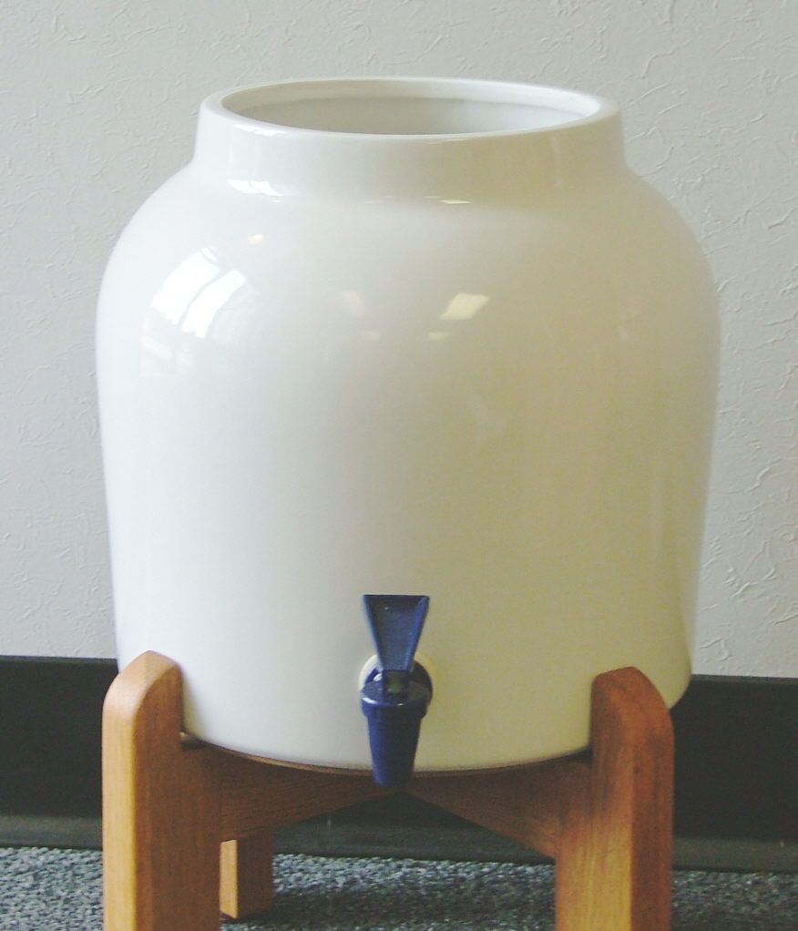 Ceramic Water Crocks : Water Cooler Stands : Feel Well