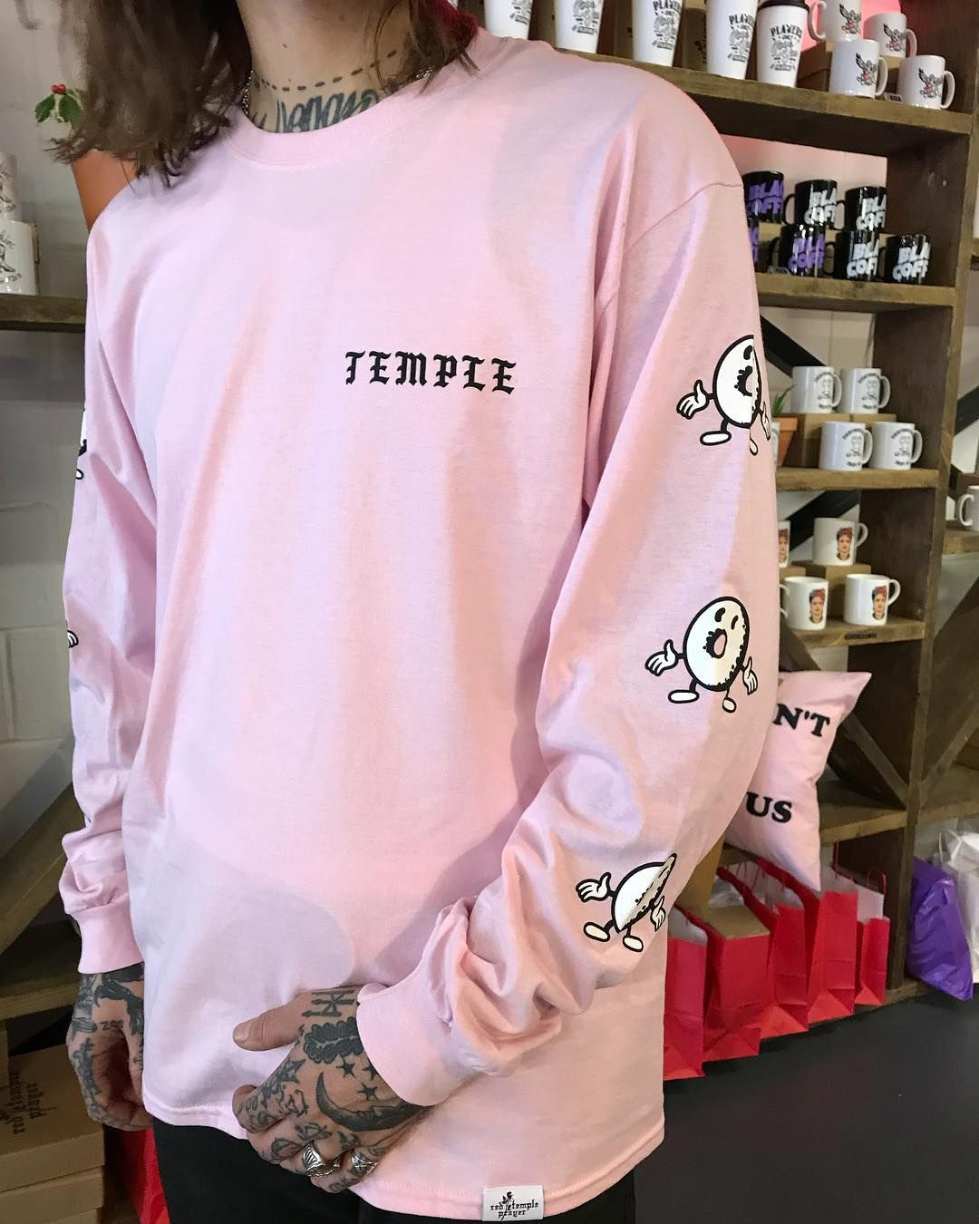 523 Likes 28 Comments Temple Coffee Donuts Templecoffeeleeds On Instagram Temple Merch Has Landed Long Sleeves T Shirts Fashion Shirts Color Inspo [ 1350 x 1080 Pixel ]