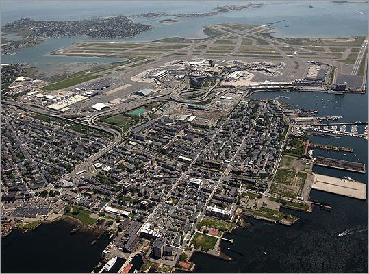Aerial Shot Bird S Eye View Of Boston East Boston With