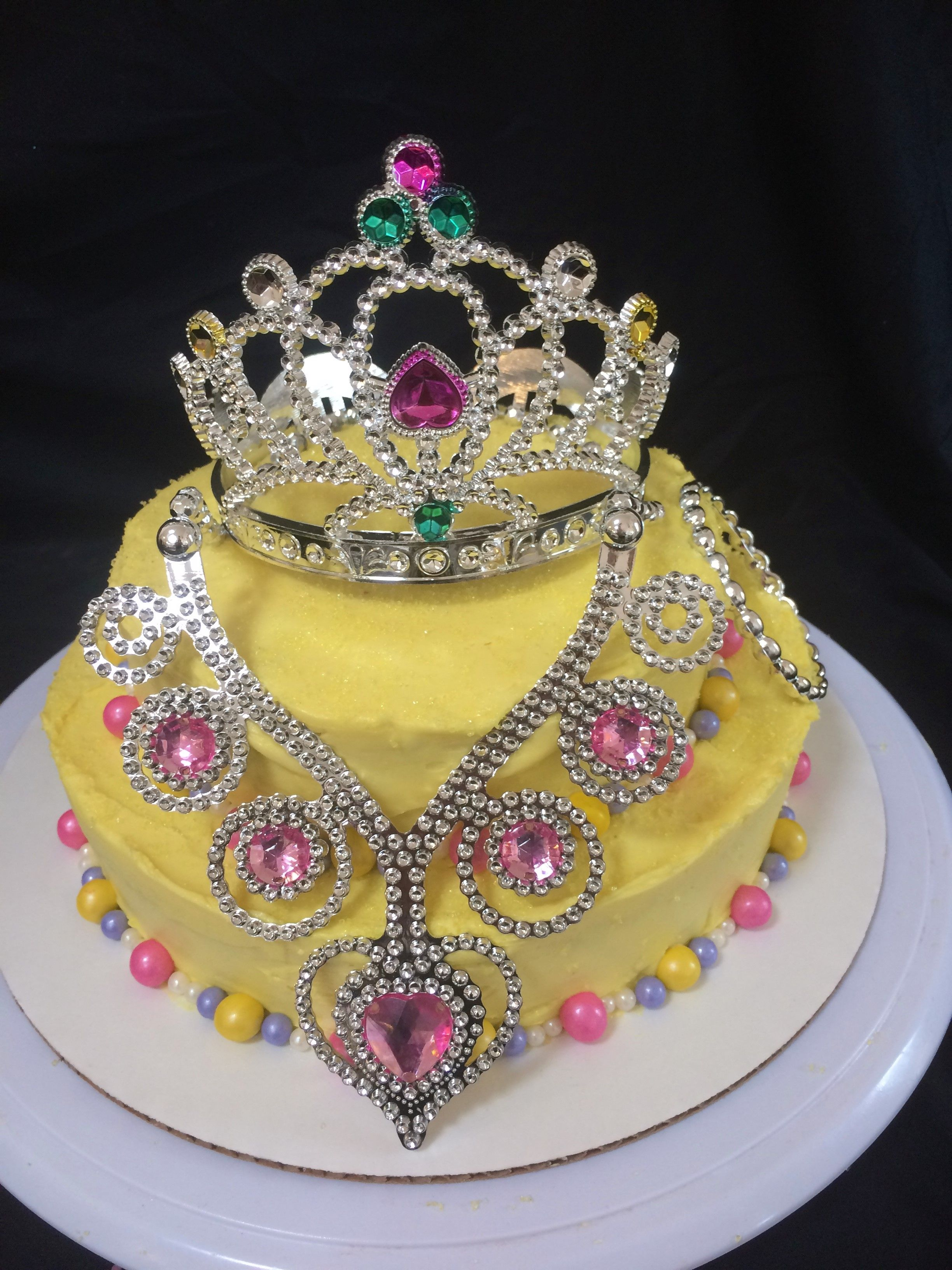 Phenomenal Princess Crown Jewels Cake Little Girl Birthday Jewel Cake Funny Birthday Cards Online Unhofree Goldxyz