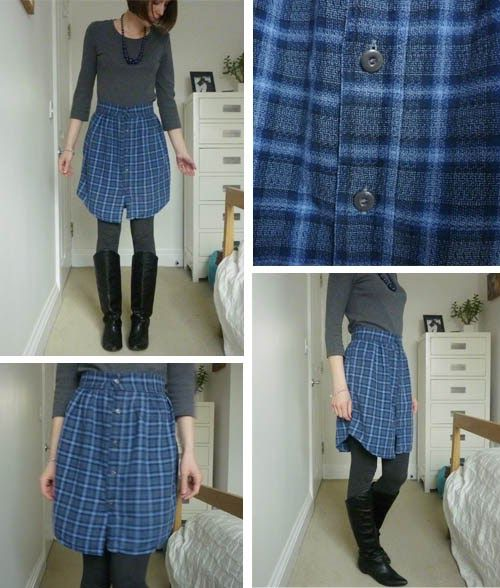 I didn't make the entire skirt today, but finished attaching the metal buttons. I made this just before Christmas but I haven't made frien...