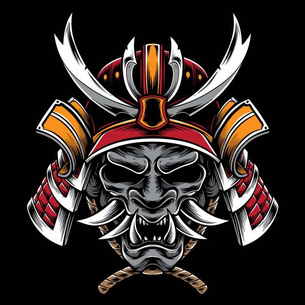Samurai Helmet With Hannya Mask Samurai Helmet Samurai Helmet Tattoo