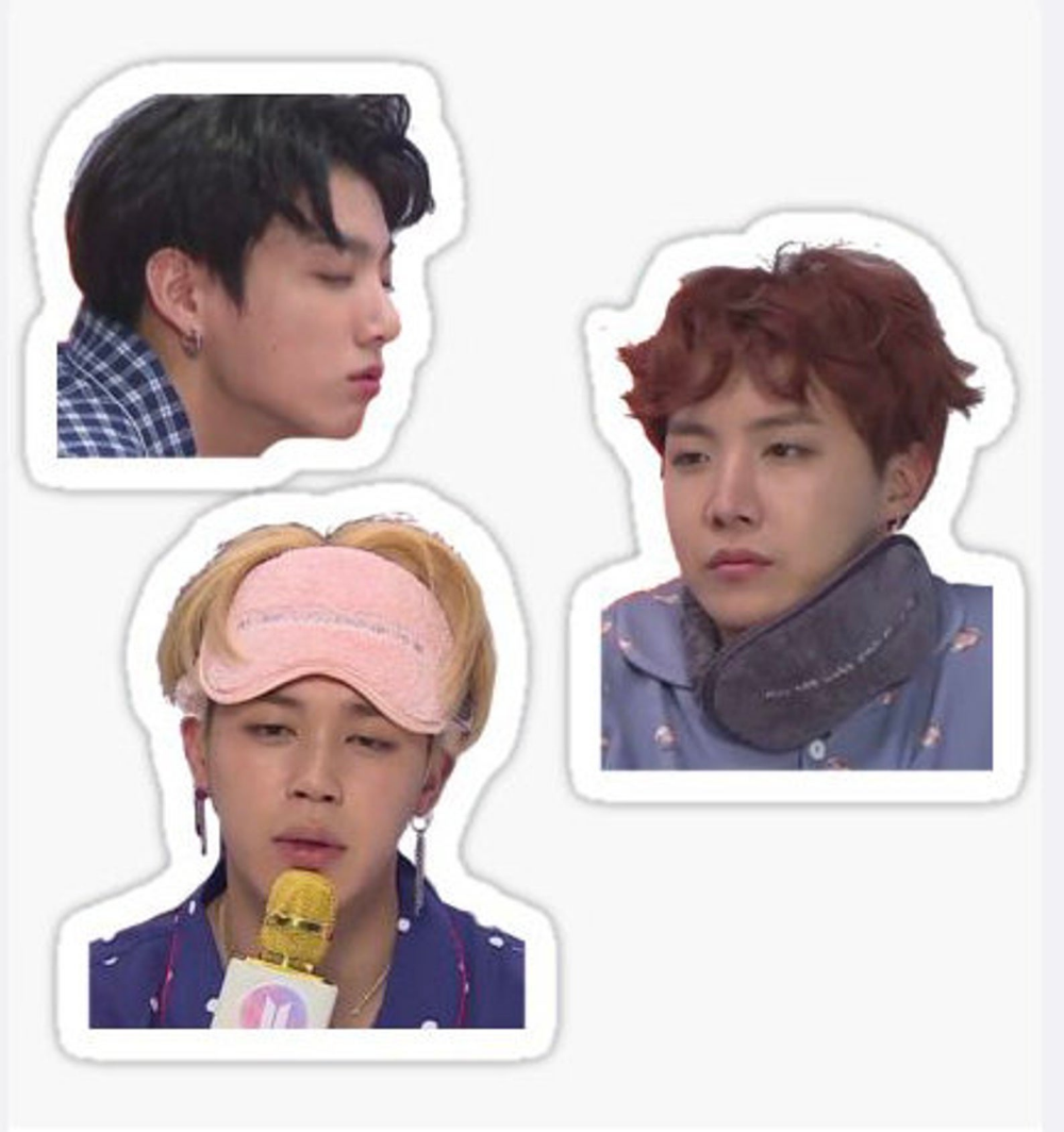 Bts Tired Trio Sticker Pack With Images Pop Stickers Meme