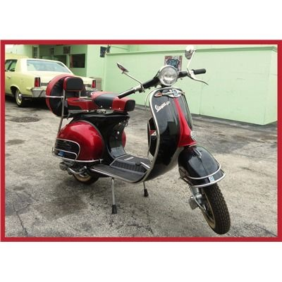 1966 Vespa Vbb 150 Cherry Red Black