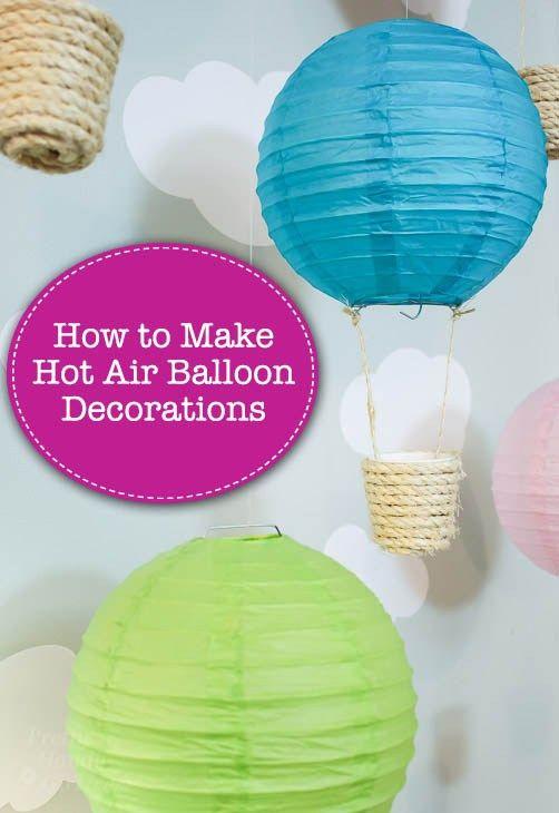 Making Hot Air Balloon Decorations