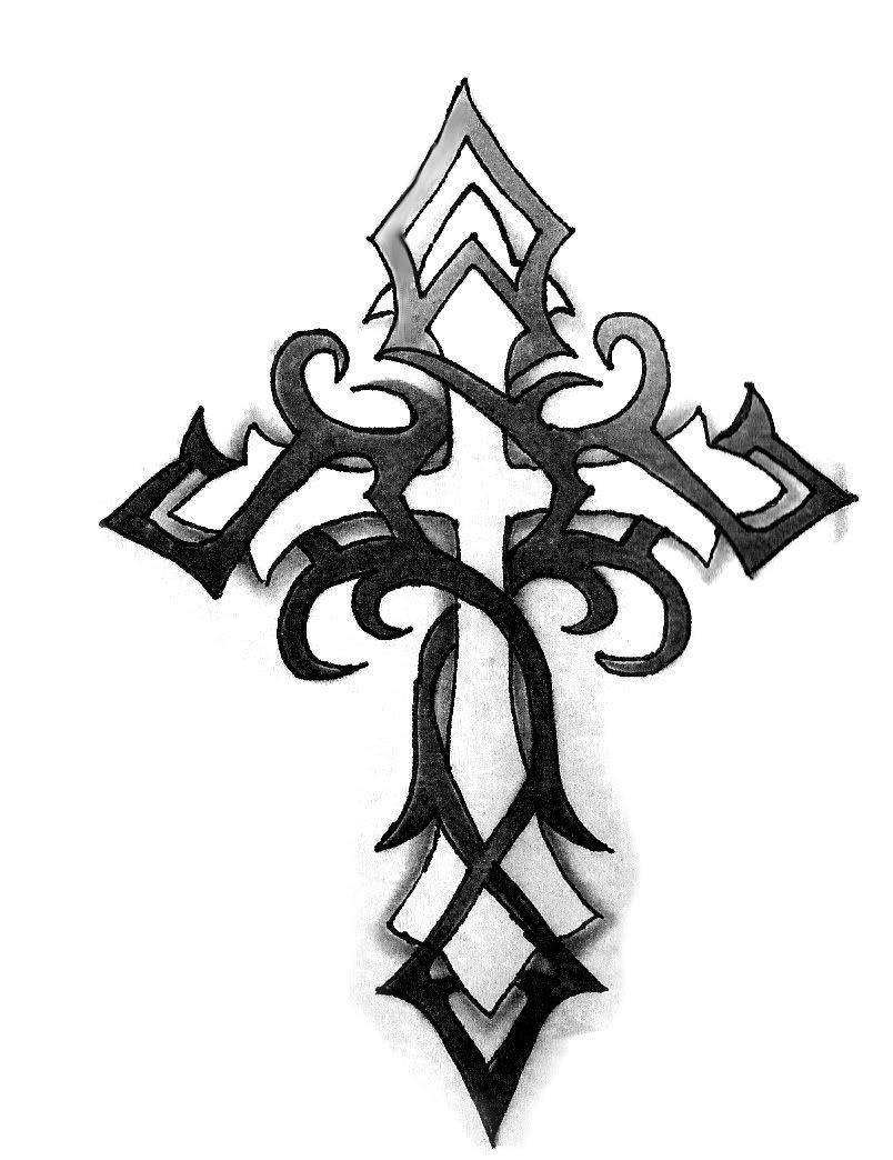 Pictures Of Tribal Cross Tattoos: Crosses In Faith Graphics