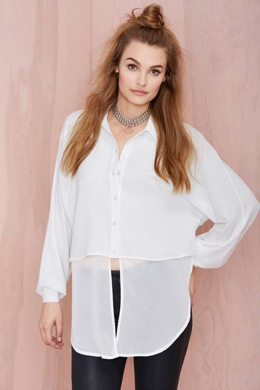 Nasty Gal Kiss and Tail Shirt - Sale : Clothes
