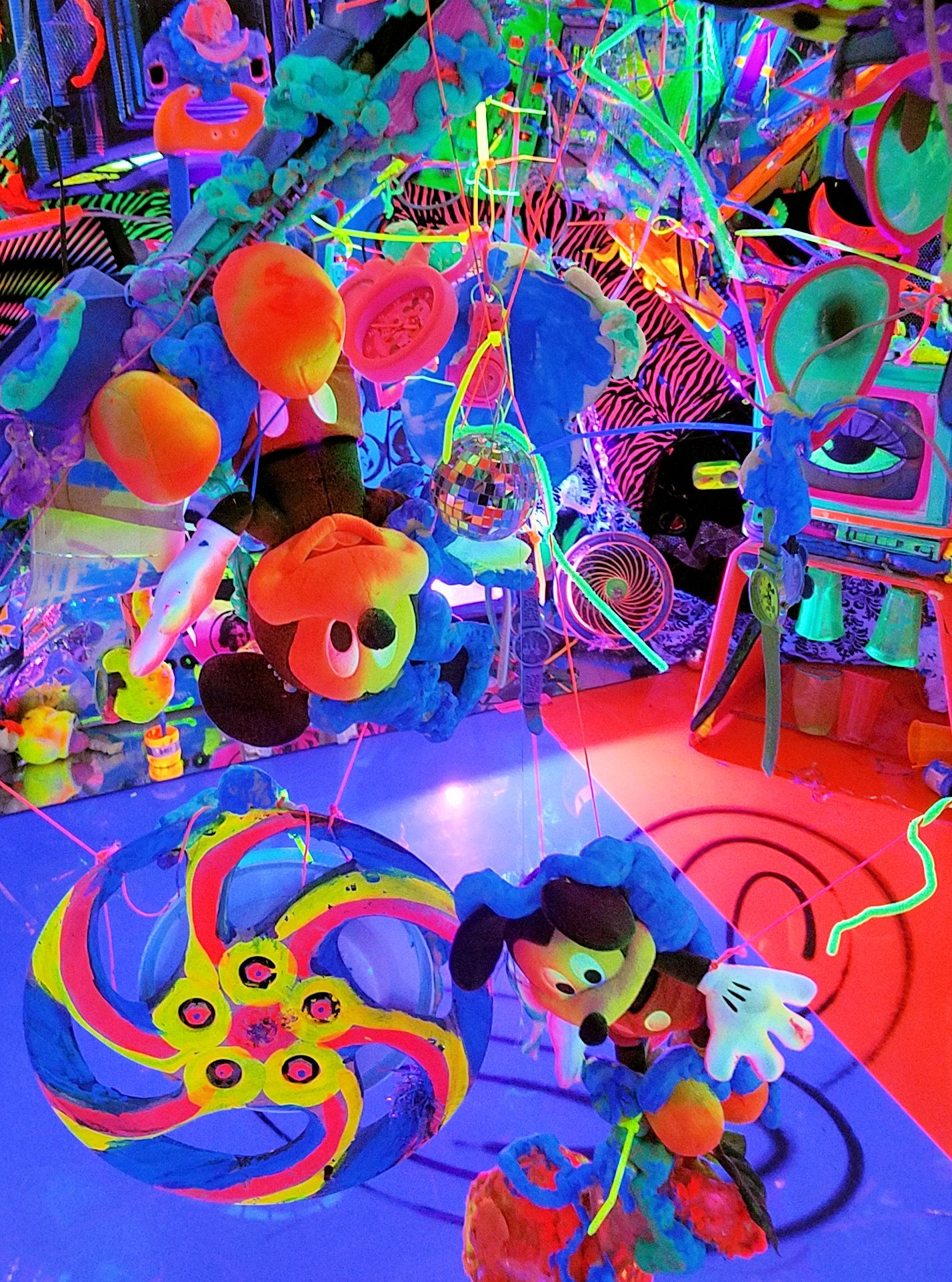 Kenny Scharf for the Mickey, the True Original Exhibition