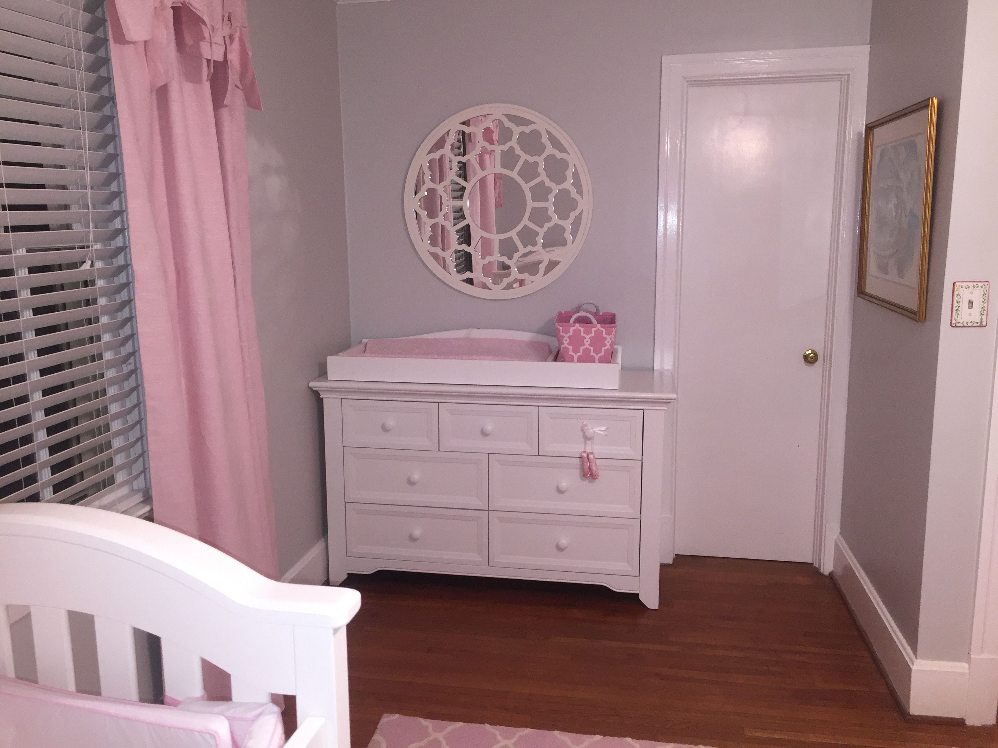 Baby Girl Nursery With Gray And Pink Wall Paint Benjamin