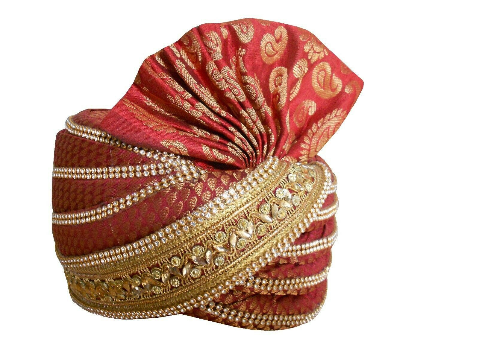 Men Hat Indian Wedding Turban Designer Handmade Pag Traditional Safa Multi-Color Groom Pagri