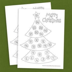 ChristmasCountdownColoringPage  Christmas