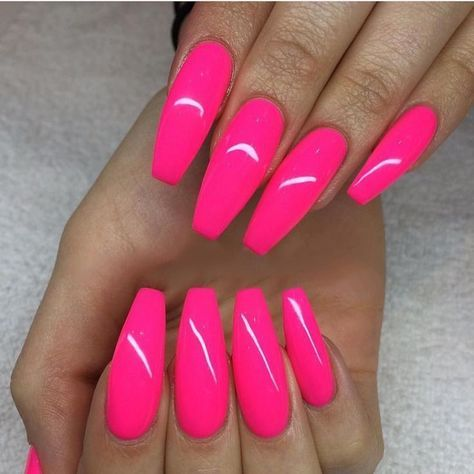 30 trendy nails design summer neon hot pink glitter in