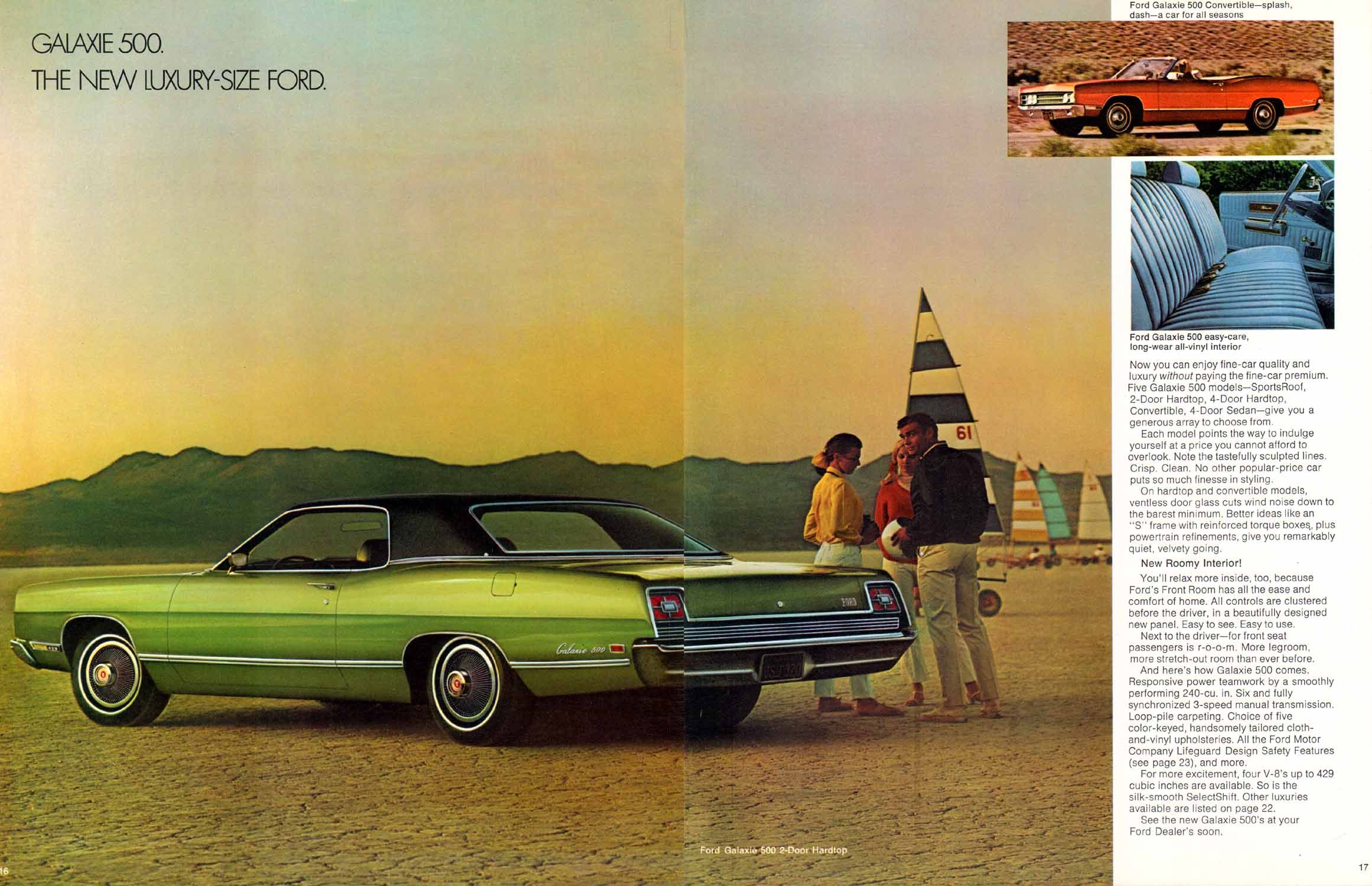 1969 Ford Full Sized Car Brochure Galaxie 500 With Images